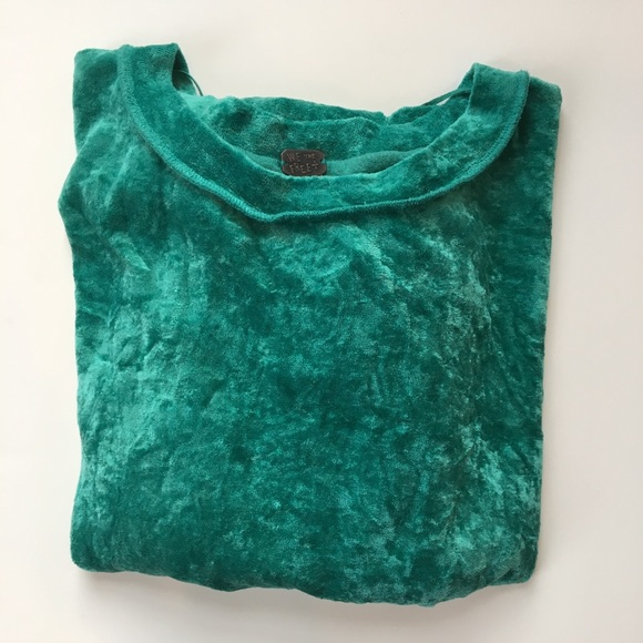 Free People Tops - We the Free by Free People green velour top